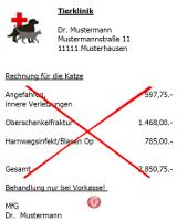 Tierarztrechnung